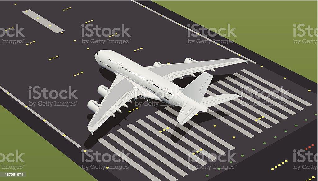 Amplio de aviones comerciales - ilustración de arte vectorial