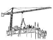 Large Construction Crane