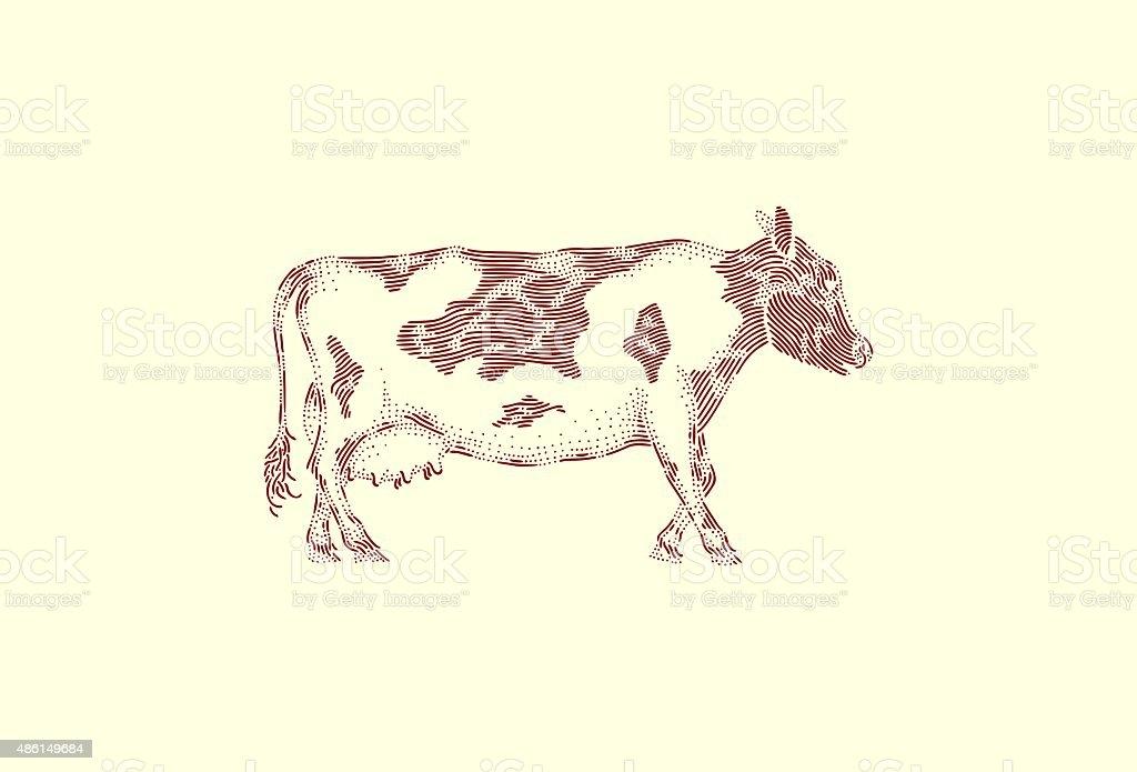 Large cow vector art illustration