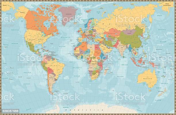 World Map Free Vector Art - (21,191 Free Downloads)