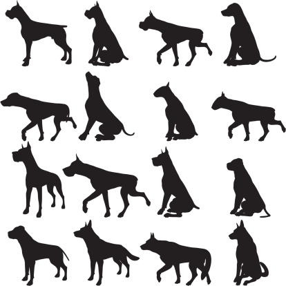 Large Dog Silhouette Collection
