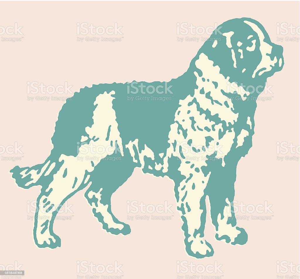 Large Dog vector art illustration