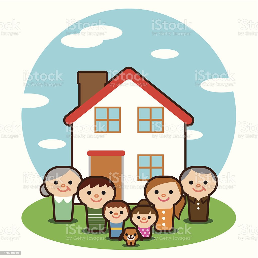 Large family house royalty-free stock vector art