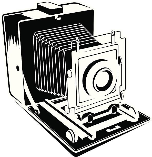 Large Format 4x5 camera vector art illustration
