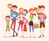 Large Group of Happy People,9 people,vector illustration