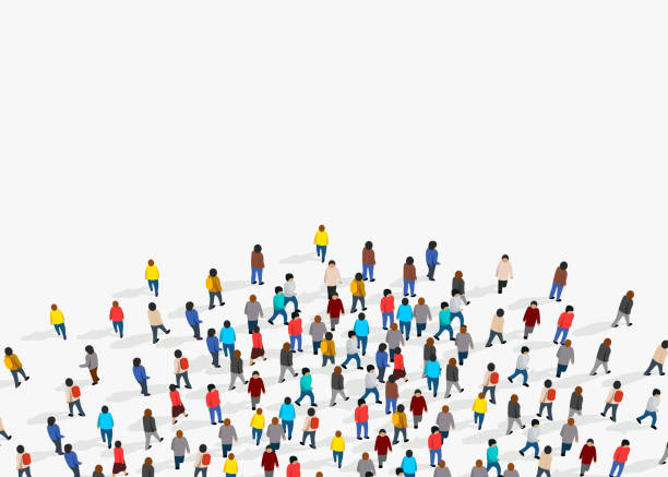 Large group of people on white background. People communication concept. Large group of people on white background. People communication concept. Vector illustration crowd of people stock illustrations