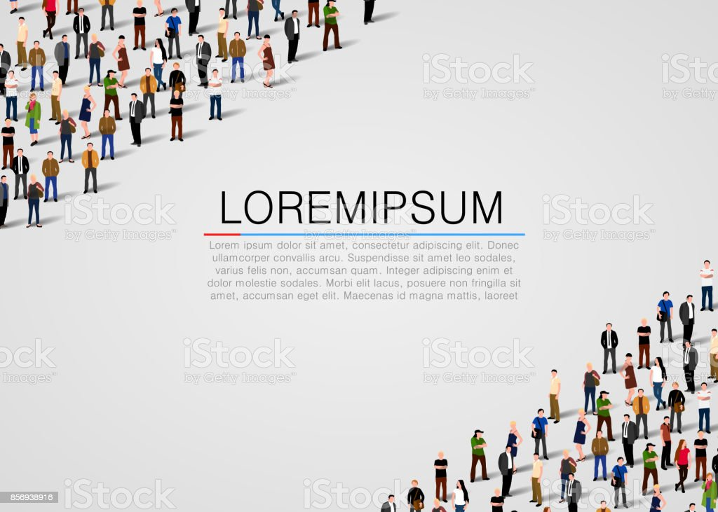 Large group of people on white background large group of people on white background - immagini vettoriali stock e altre immagini di adulto royalty-free