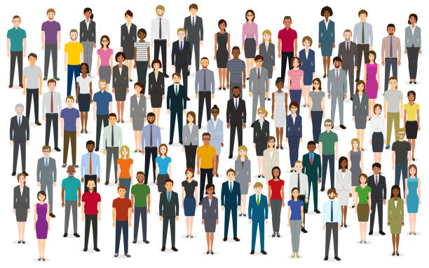 large group of people - business people stock illustrations