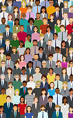 Large group of people. Created with adobe illustrator.