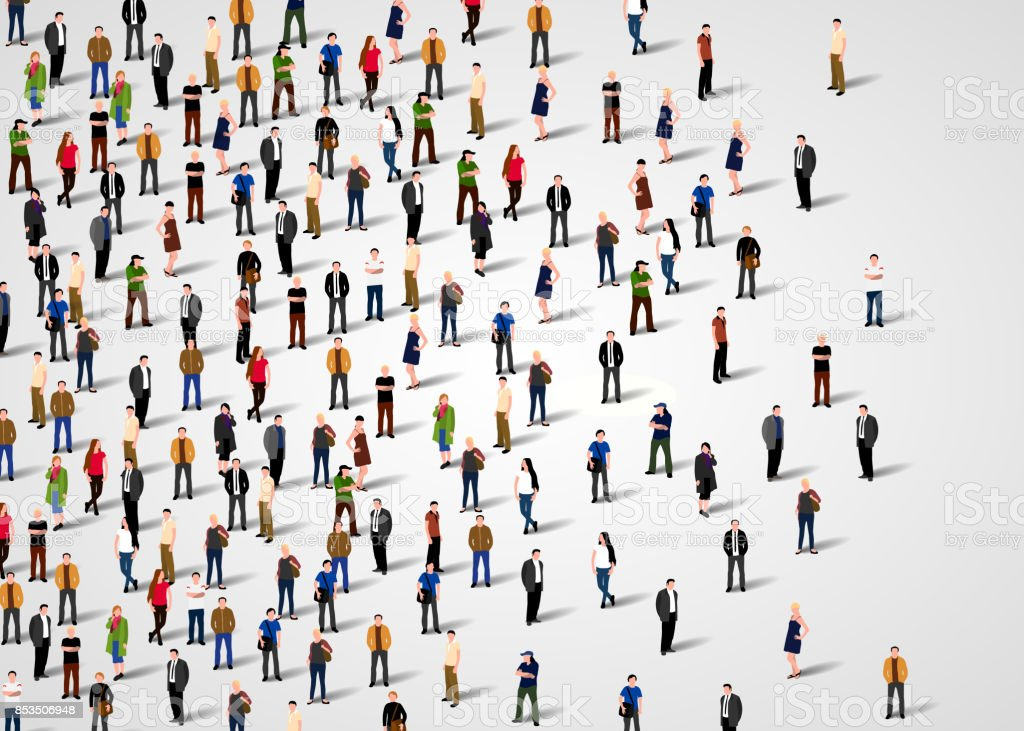 Large group of people. royalty-free large group of people stock illustration - download image now
