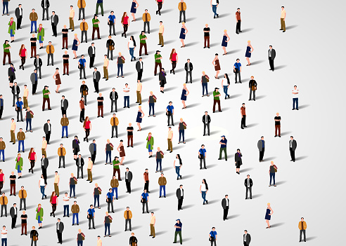 Large Group Of People Stock Illustration - Download Image Now