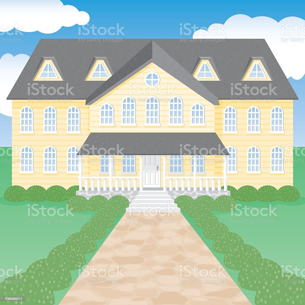 Large House royalty-free large house stock vector art & more images of architecture