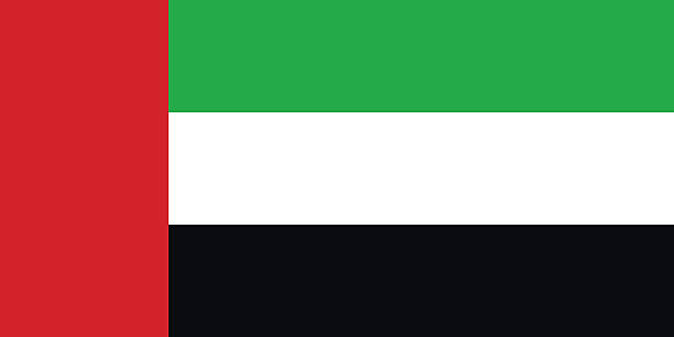 large image of the united arab emirates flag - uae flag stock illustrations
