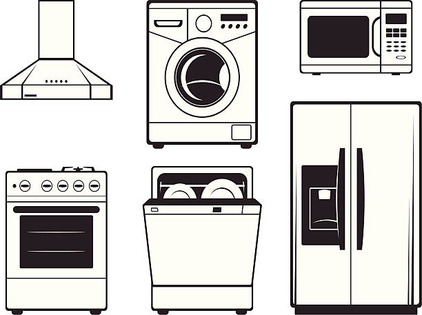 Kitchen Appliances Clip Art ~ Royalty free appliance clip art vector images