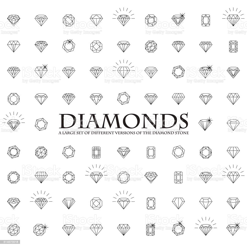 Large number of versions of a diamond royalty-free large number of versions of a diamond stock illustration - download image now