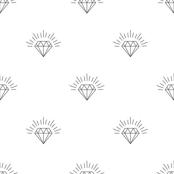 large number of versions of a diamond - diamond shaped stock illustrations, clip art, cartoons, & icons