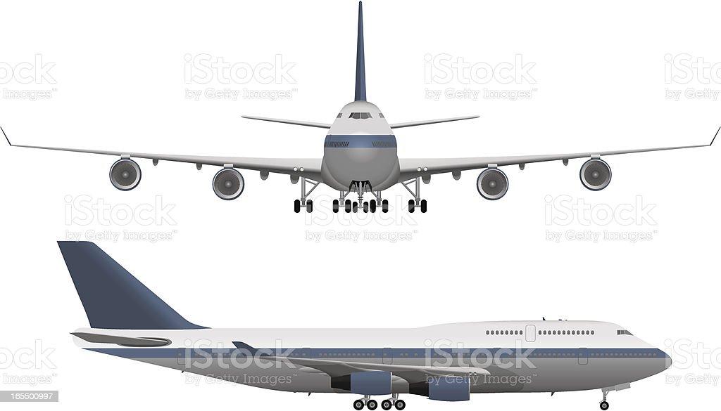 Large Passenger Airplane vector art illustration