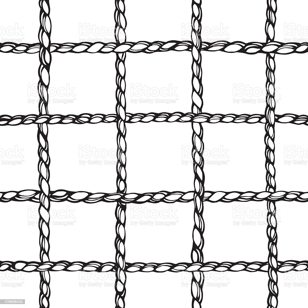 Large Perpendicular Weaving Ropes Background Stock Vector Art & More ...