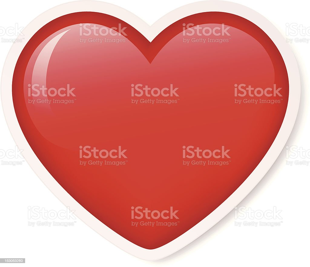 Large red heart icon on white background royalty-free large red heart icon on white background stock vector art & more images of cut out