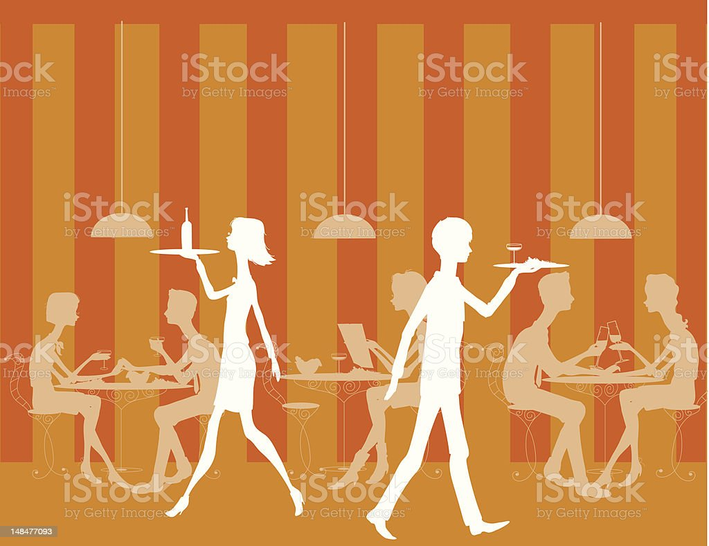 Large Restaurant Scene royalty-free large restaurant scene stock vector art & more images of cartoon