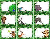 large set of animal and people nature frames
