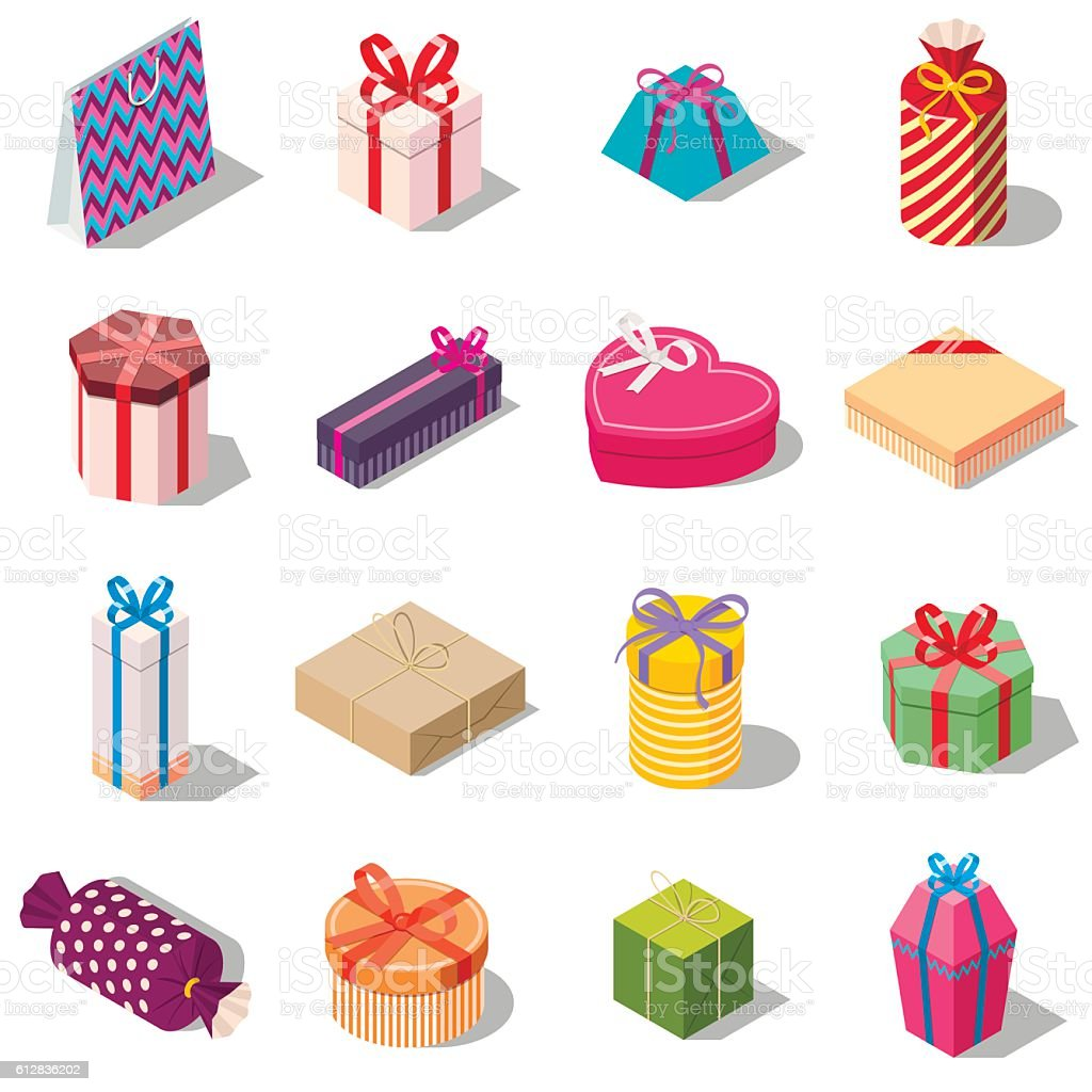 Large set of different present and gift boxes large set of different present and gift boxes negle Image collections