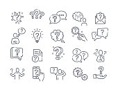 Large set of question, query or confusion icons with a variety of question marks for black and white vector design elements