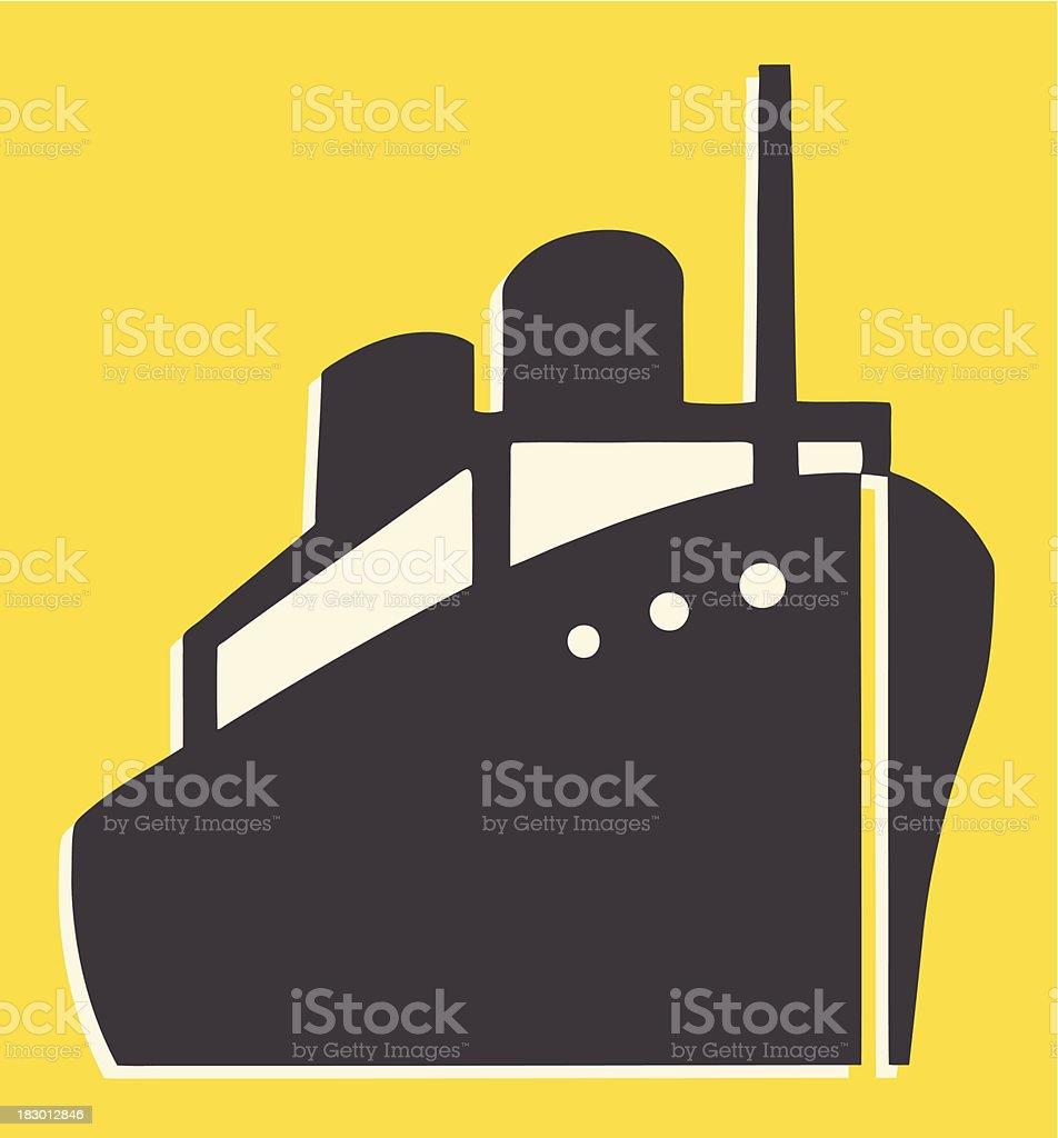Large Ship royalty-free stock vector art