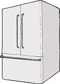 Large single closed refrigerator