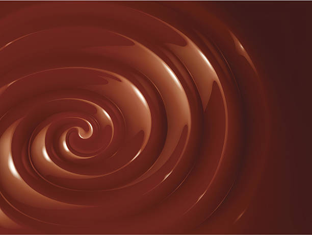 Large swirl of chocolate fondue vector art illustration