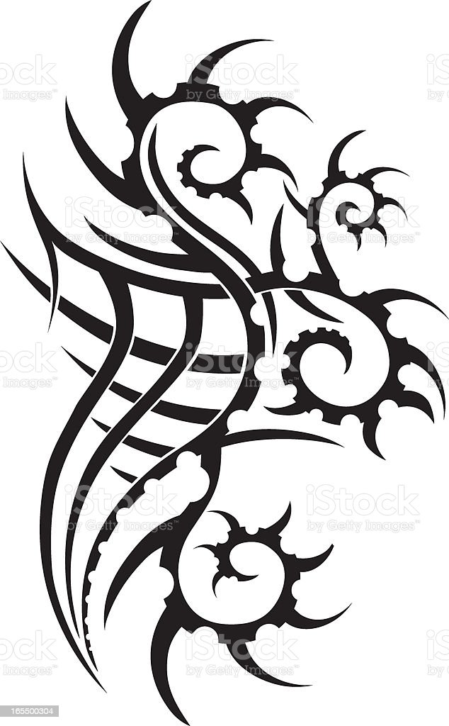 Large Tribal Tattoo Design royalty-free stock vector art