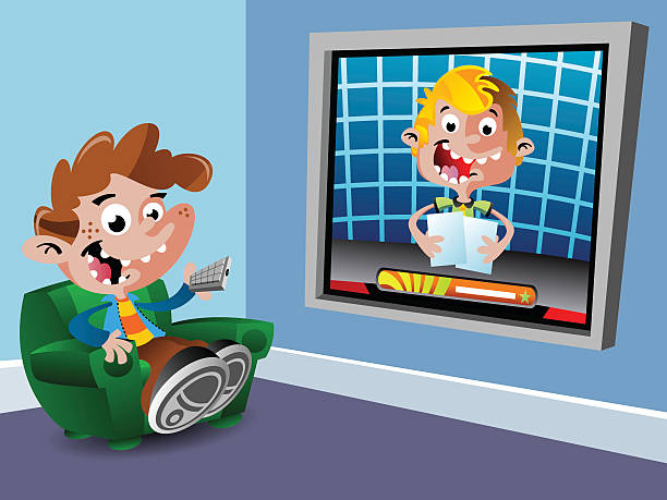 Large TV vector art illustration