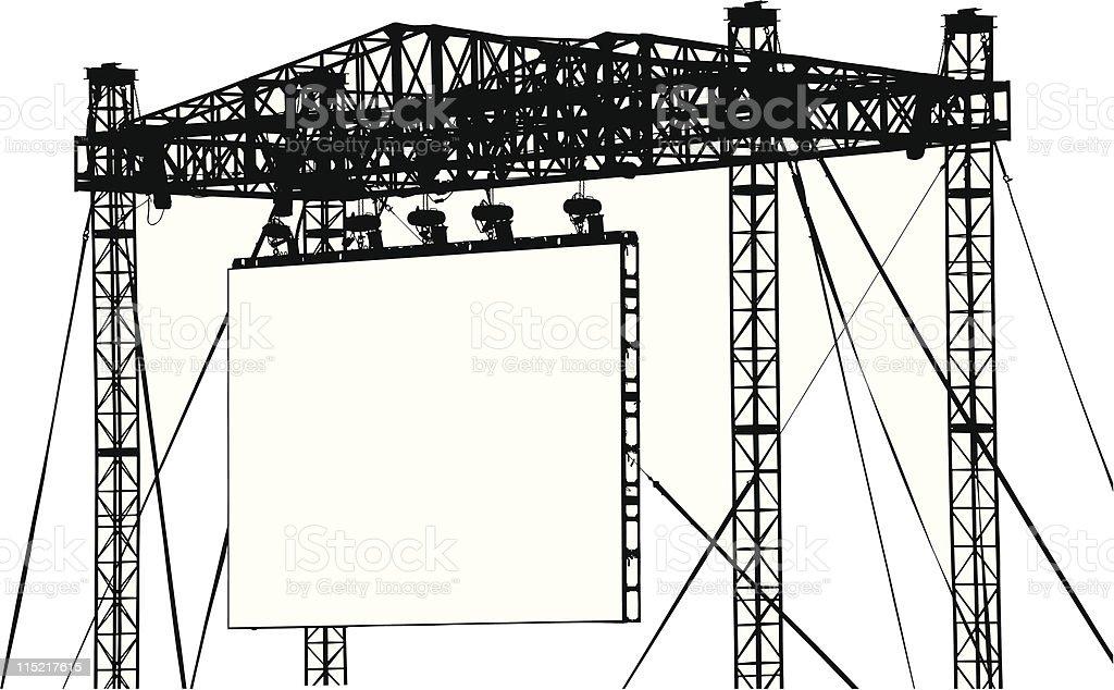 Large Vector Screen vector art illustration