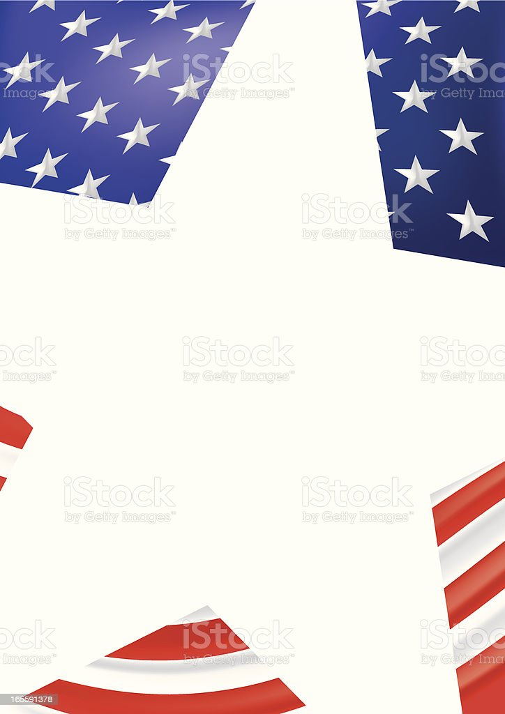 Large white star behind stars and stripes illustration royalty-free stock vector art