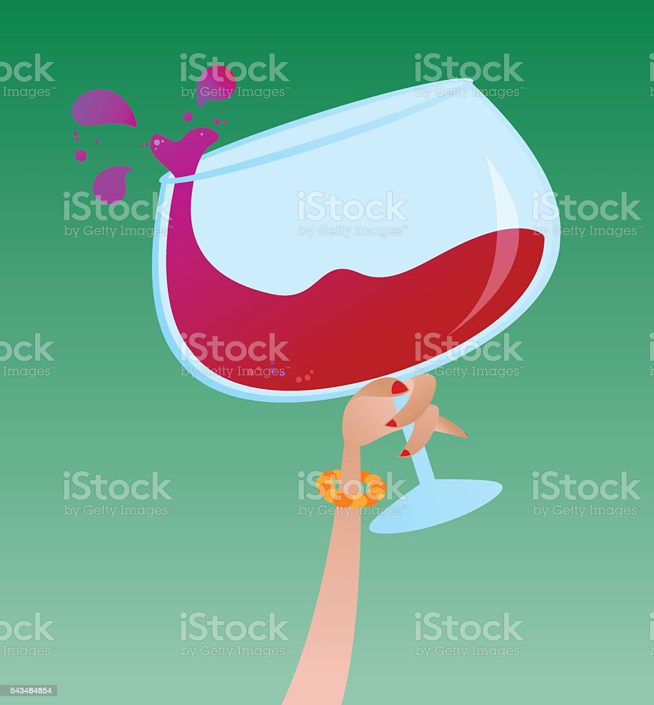 Large Wine Glass vector art illustration
