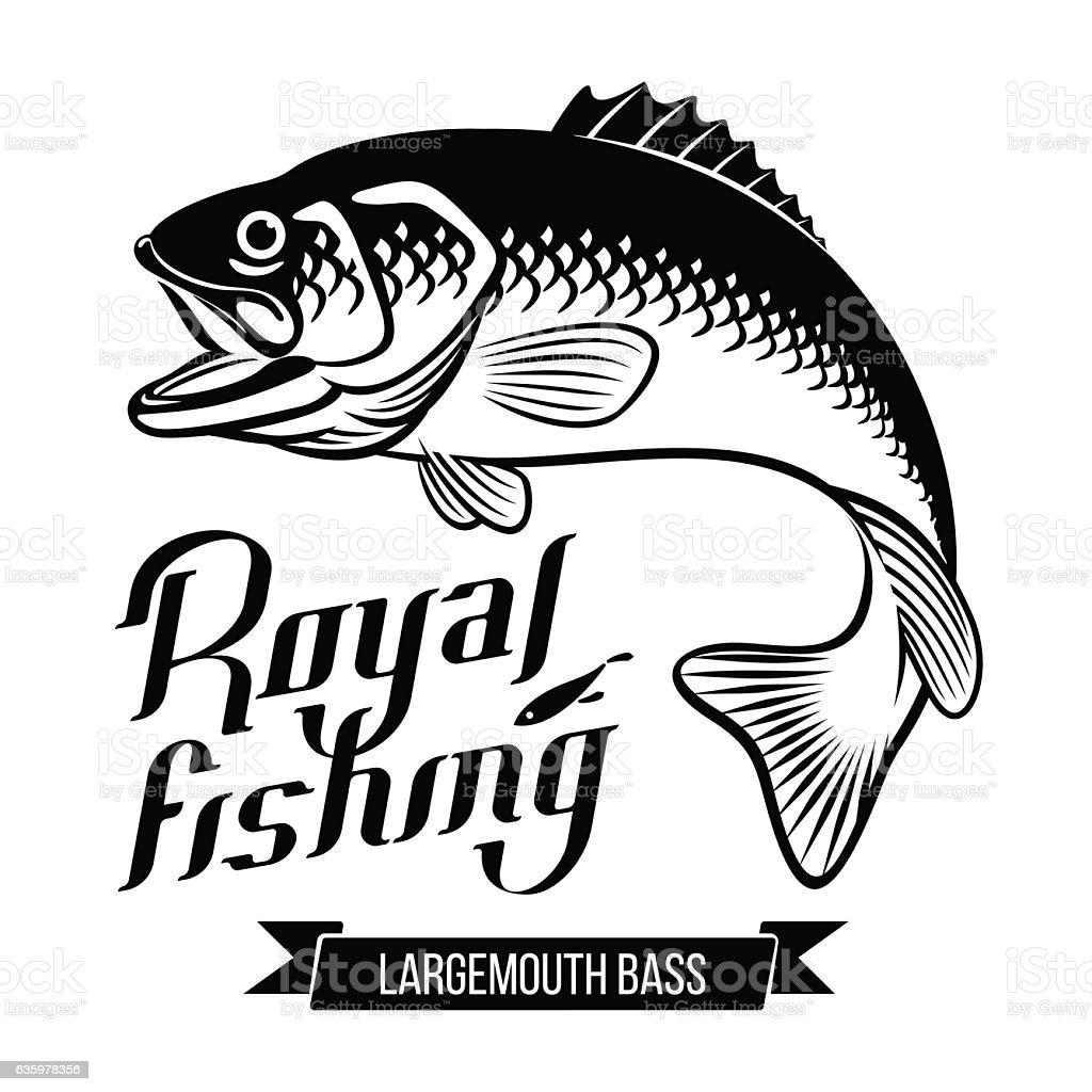 Largemouth Bass illustration vector art illustration