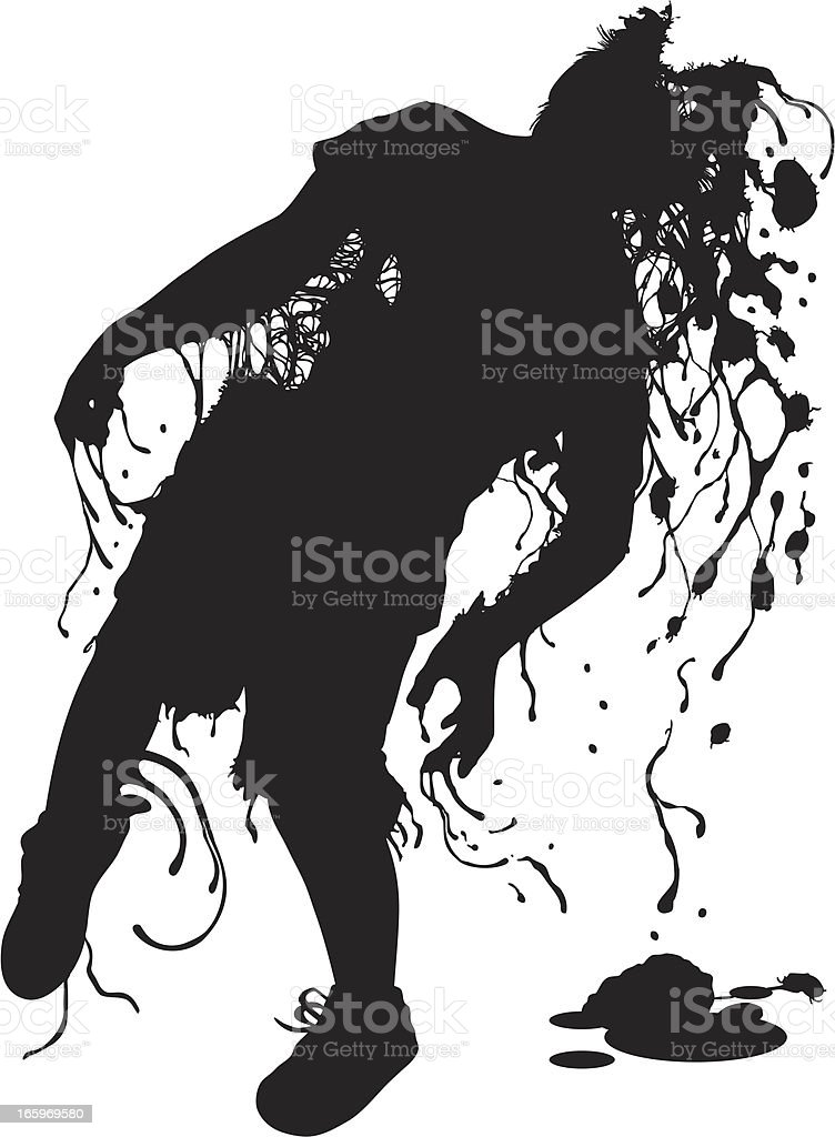 Larry the Zombie! royalty-free stock vector art