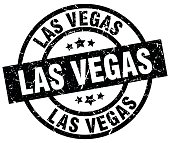 Las Vegas black round grunge stamp