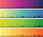 Las Vegas Multiple Color Gradient Skyline Banner