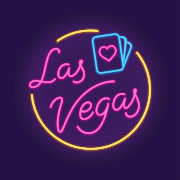 illustrazioni stock, clip art, cartoni animati e icone di tendenza di las vegas neon sign - las vegas