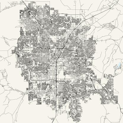 Las Vegas, Nevada Vector Map