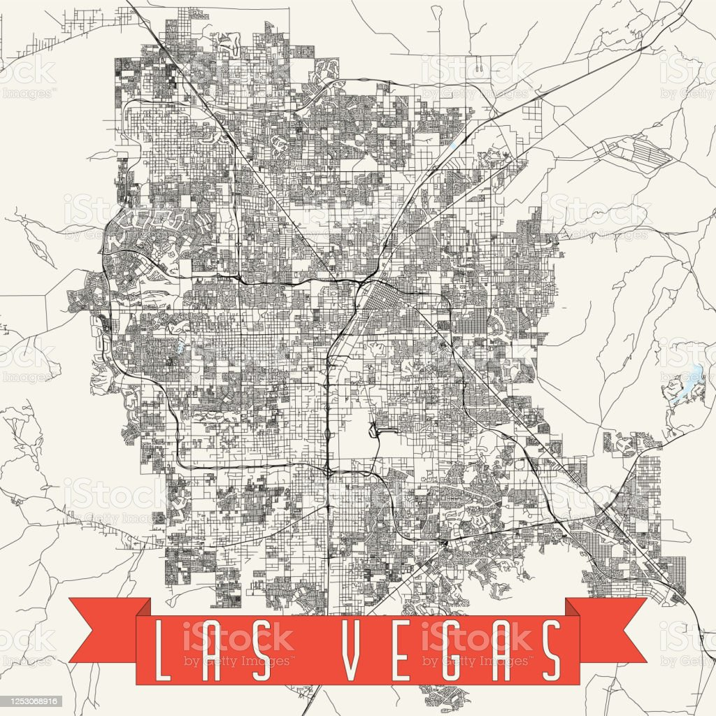 Ilustracion De Mapa Vectorial De Las Vegas Nevada Y Mas Vectores Libres De Derechos De Abstracto Istock