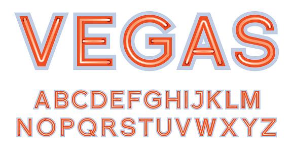 Las Vegas sign font