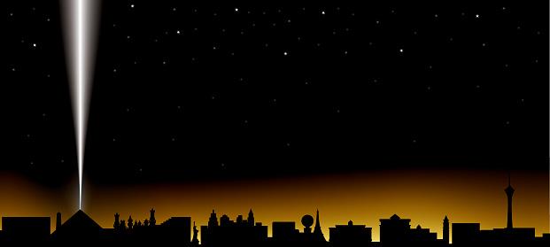 las vegas skyline at night