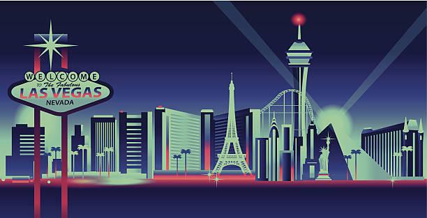 illustrazioni stock, clip art, cartoni animati e icone di tendenza di città di las vegas - las vegas