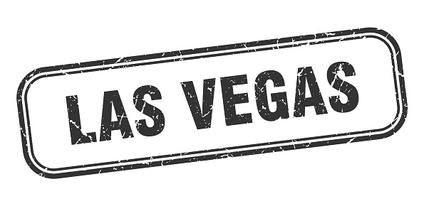 Las Vegas stamp. Las Vegas black grunge isolated sign