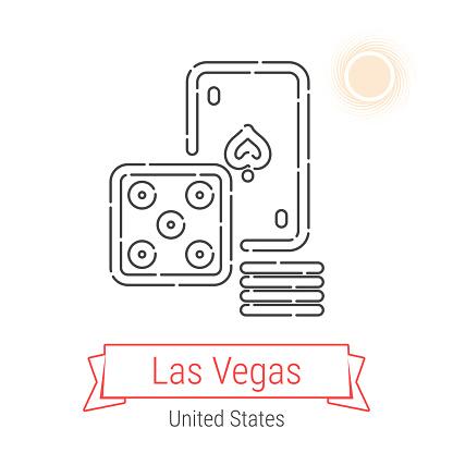 Las Vegas, United States Vector Line Icon
