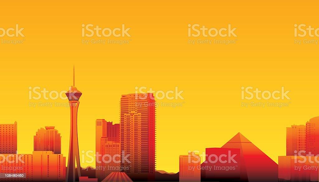 Las Vegas vector art illustration