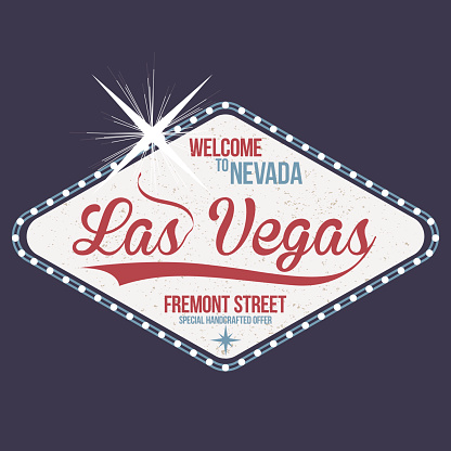 Las Vegas. Welcome to Nevada, stamp with grunge. Vintage typography, t-shirt graphics