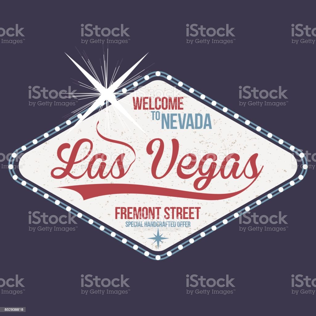 Las Vegas. Welcome to Nevada, stamp with grunge. Vintage typography, t-shirt graphics vector art illustration